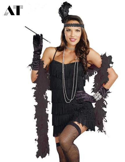 adult roaring 20s trixie costume source online shop sexy womens black 20s flapper cabaret halloween costume
