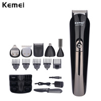 Kemei 6 In 1 Rechargeable Hair Trimmer Hair Clipper Shaver Sets Electric Shaver Shaving Razor Beard Trimmer Hair Cutting Machine