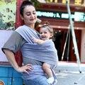2016 Venda Quente Baby Sling Elástico Wrap Carrier Mochila Hipseat Bebê Canguru Mochila Cor Sólida Dois Ombros de Algodão Elástico