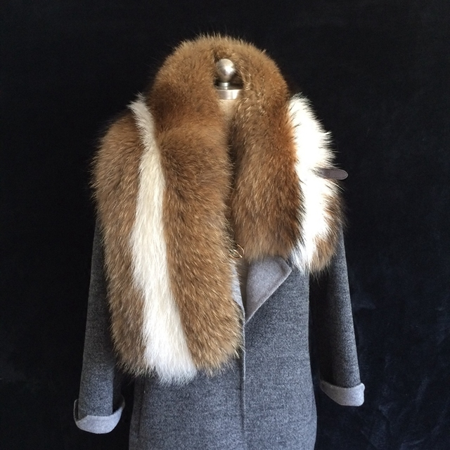 On Sell genuine raccoon fur shawl super big fashion real raccoon fur pashmina big wide patchwork fur scarf natural fur stole