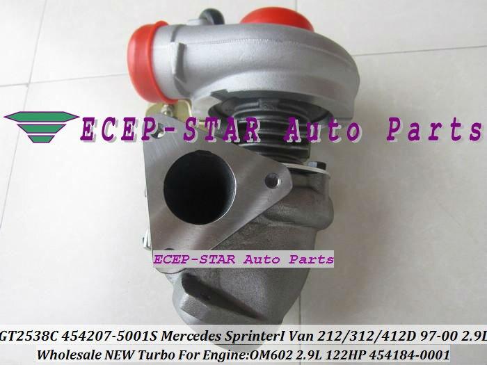 GT2538C 454207-5001S 454184-0001 454207 454184 Turbo For Mercedes Benz Sprinter I 212D 312D 412D 1997-00 OM602 2.9L Turbocharger