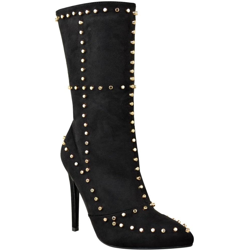 Chaussures Mode Genou as Parti Mince Hauts Hiver Picture Pointu Styles Bout As Talons Femme Picture Bottes Le Sexy Deux Automne Rivet Nouveau Sur Adwxzq1A