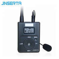 JINSERTA Mini Portable FM Transmitter AUX TF Card Adatper Radio Broadcast Stereo With Microphone For Tourism