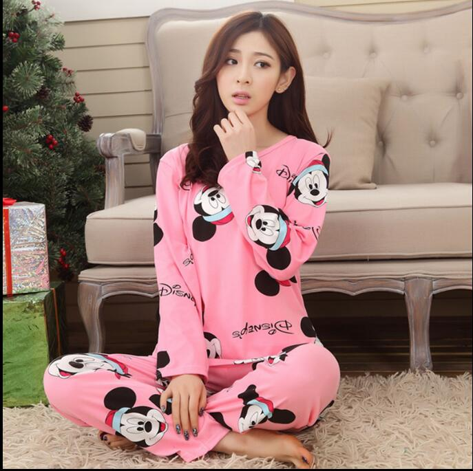 New Listing Foply 2019 Autumn Pyjamas Women Carton Cute Pijama Pattern   Pajamas     Set   Thin Pijamas Mujer Sleepwear 90S Wholesale