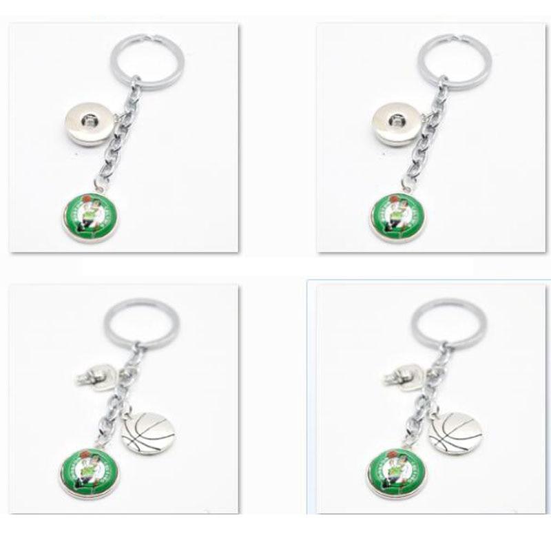 2018 New Keychain Boston Celtics Charm Key Chain Car Keyring for Women Men Gifts Basketball Fan Jewelry ...