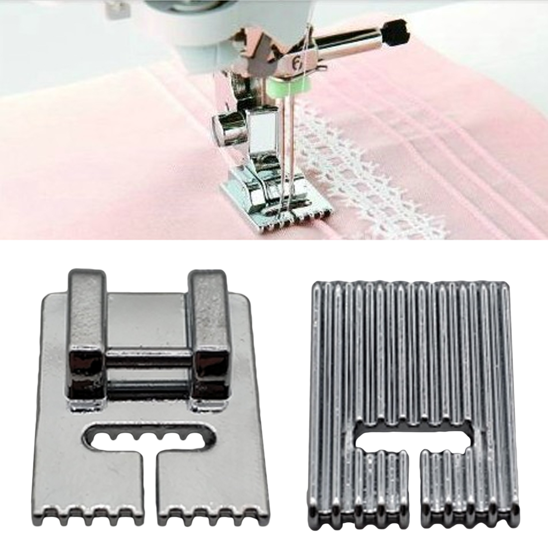 5/7/9 Grooves Sewing Machine Foot Making Pleat Tank Household Electric Sewing Machine Presser Foot Tools