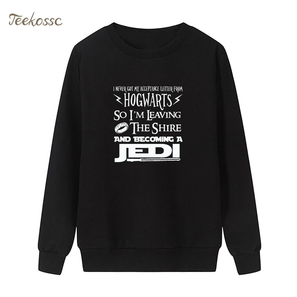 Hogwarts Star Wars Jedi Inspired Sweatshirt Funny Slogan Premium Hoodie Winter Autumn Women Lasdies Pullover Fleece Streetwear
