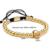 6mm de oro de acero titanium del macrame del grano pulsera de mujer cráneo encantos pulseras y brazaletes para las mujeres joyería de los hombres