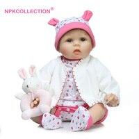 22 Realistic Reborn Baby Doll 55cm Girls Boneca Baby Doll Boutique Girls Birthday Gifts Doll Set