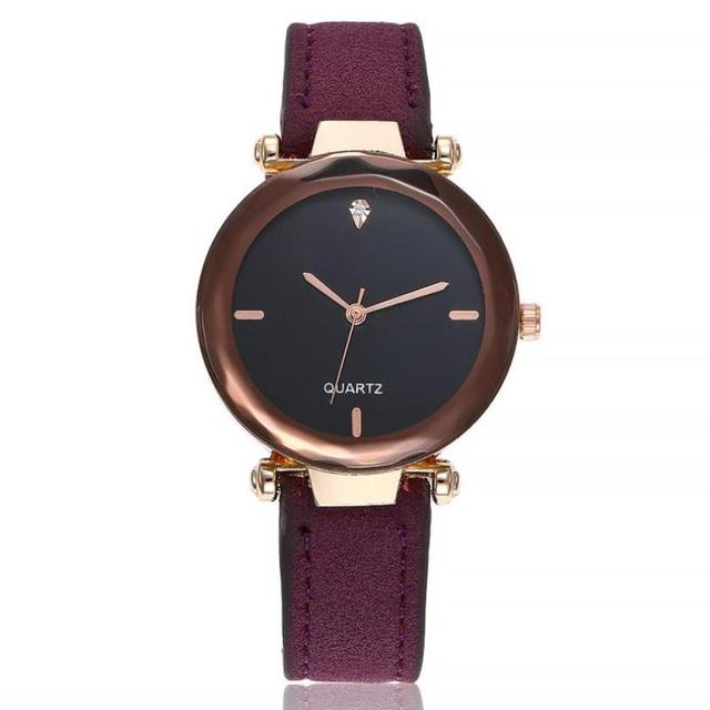 High Quality Gold Bracelet Watches Women's Casual Quartz Leather Band Watch Anal