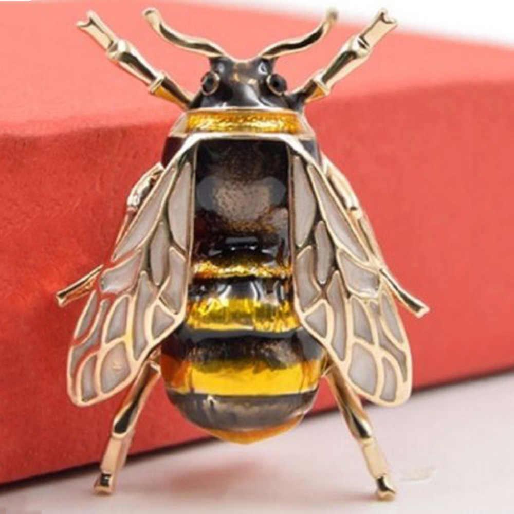 スタイリッシュワイルドヒョウブローチ新かわいい人格女性蜂昆虫ブローチアクセサリー服のブローチミニ蜂動物エレガントな L0327