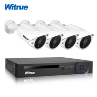 Witrue 4CH 1080P AHD DVR Surveillance System 4pcs 2 0MP Surveillance Camera Sony IMX323 Outdoor Waterproof