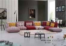 2017 Modern Set Fabric Rushed Armchair Chaise Bean Bag Chair Sectional Sofa Hot Sale Cheap Price home sofa
