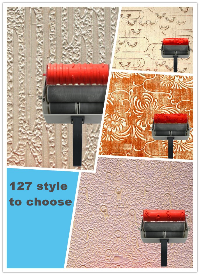 Wall Decoration Roller : Wall print roller inch patterned for