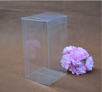 Bing11 30 Simple Clear PVC Cupcake Boxes Plastic Cake Box Wedding Favor Gift Box Transparent Party