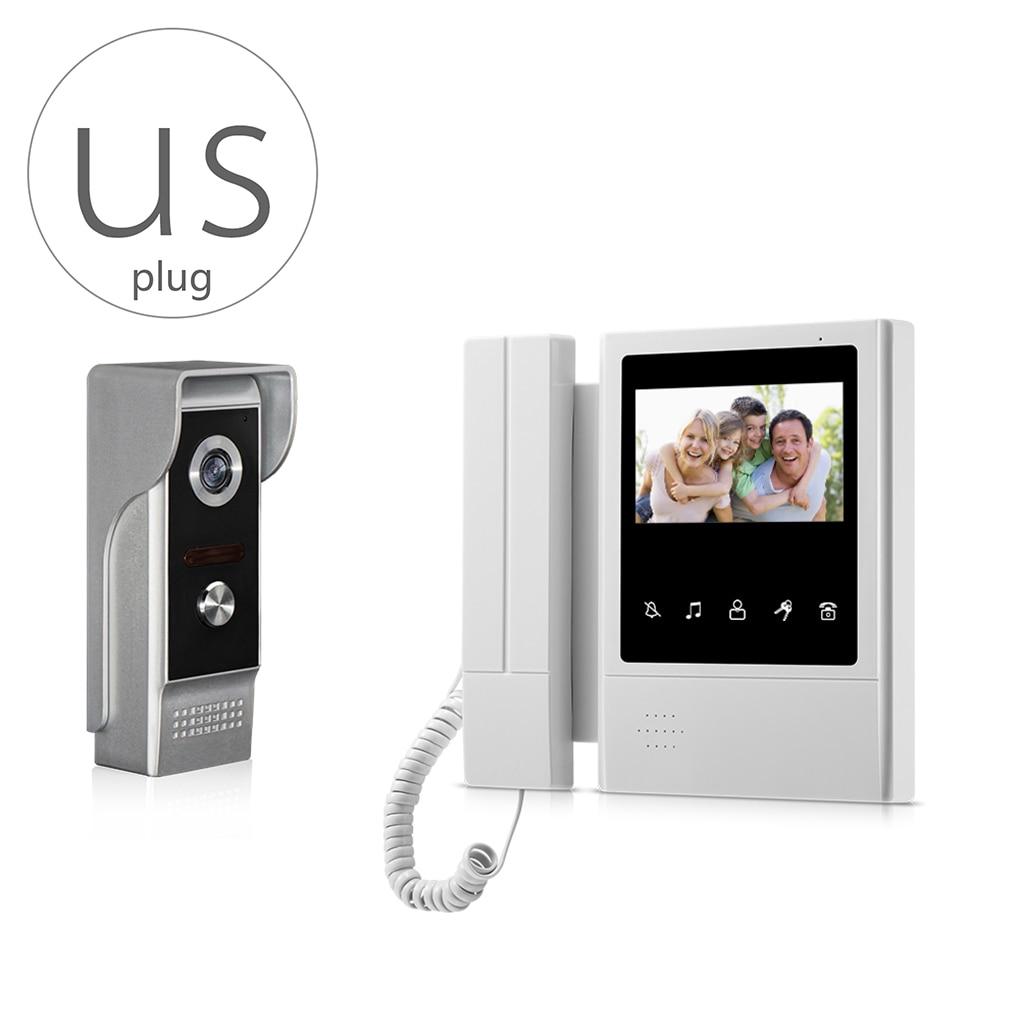 V43E168-M4 Video Door Phone Intercom Doorbell Home Security System Rainproof IR Night Vision Camera Home Access Control System