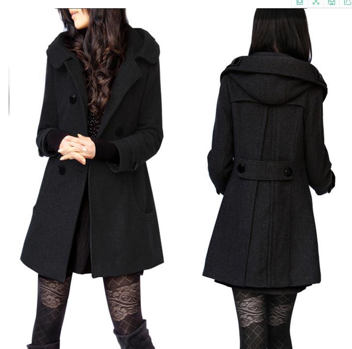 Casaco Feminino Winter Coat Female Coats Casacos Trench Coat Jacket 5XL 6XL Sobretudo Preto For Womenn