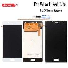 Alesser עבור wiko U מרגיש לייט LCD תצוגת מסך מגע עצרת החלפת חלקי תיקון טלפון נייד אביזרי + כלים + קלטות