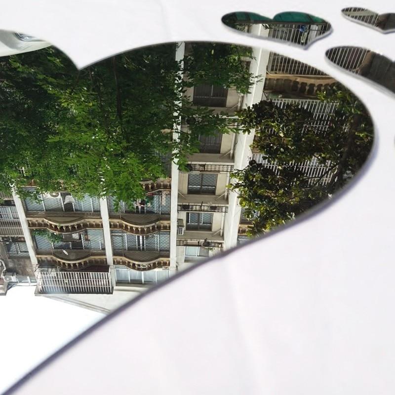 Romantik sevgi Güzgü 3D divar nişanları Öz-özünə yapışan - Ev dekoru - Fotoqrafiya 4