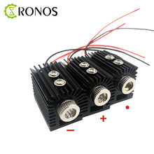 DIY 650nm 5mW red dot / line / cross laser module head glass lens adjustable focus laser positioning with heat sink(China)