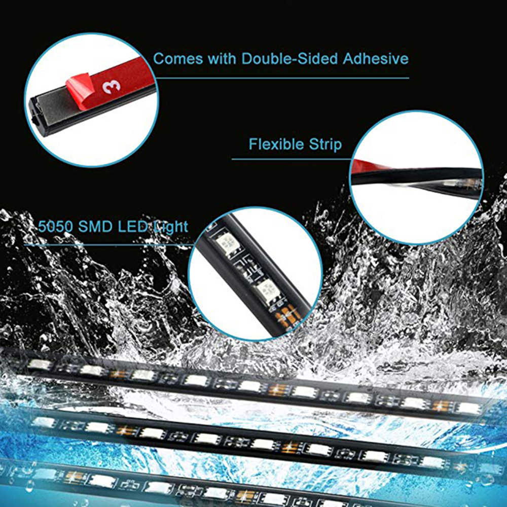 Y 90 × 120 センチワイヤレス電話アプリ車 RGB LED ストリップ 5050 SMD RGB LED ストリップ下でカー · チューブ underglow 足回り系ネオンライトキット