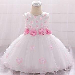 Детское платье для крестин, вечерние платья для девочек 2-1 лет, 2020