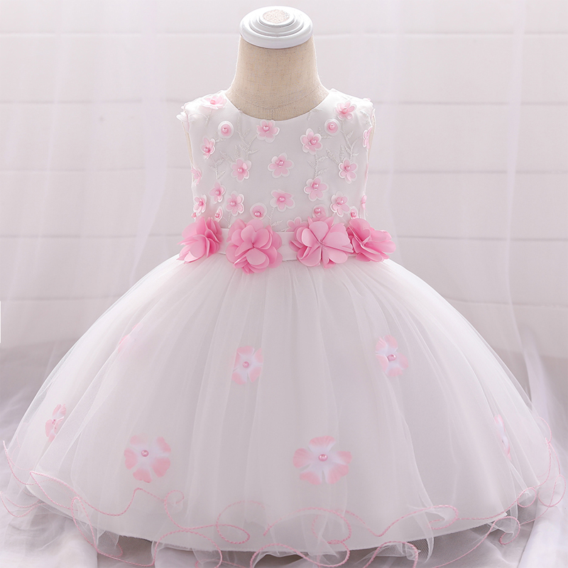 2020 Toddler Child Gown Newborn Christening <font><b>Dress</b></font> For Baby Girl <font><b>Dresses</b></font> Party And Wedding Princess <font><b>Dress</b></font> Girls <font><b>2</b></font> 1 Year <font><b>Birthday</b></font> image
