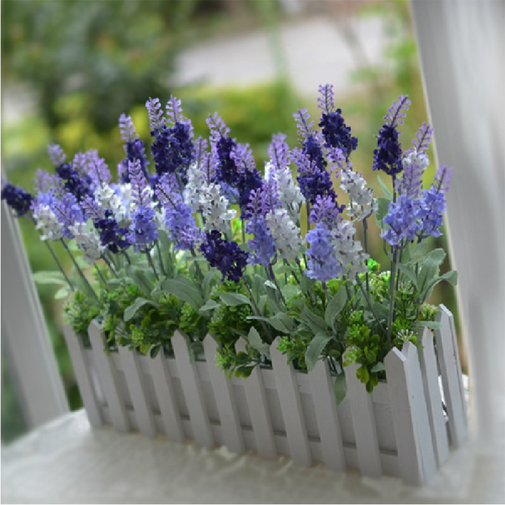 3 Color 10 Head Artificial Lavender Silk Flower Home Wedding Garden Plant Flower Office Decor Decorations New
