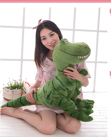 big plush green dinosaur toy new Tyrannosaurus rex doll gift about 80x60cm 0344 new dragon tyrannosaurs acoustooptical ultralarge electronic remote control walking dinosaur tyrannosaurus rex electric toy