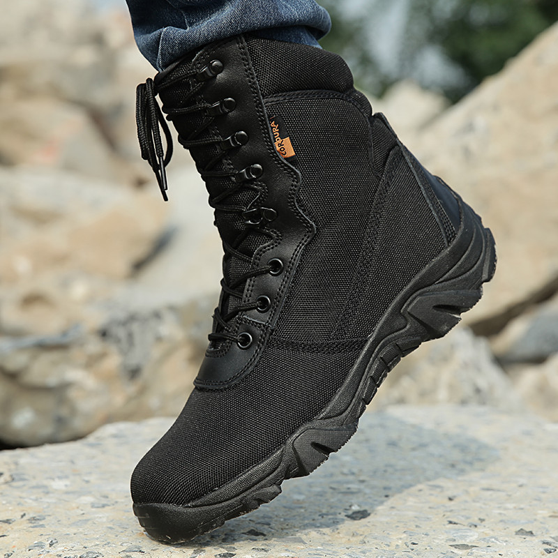 ФОТО Combat Black Army Boots Men Military Tactical Shoes Outdoor Tactico Winter Boots sapato masculina High Quality chaussure homme