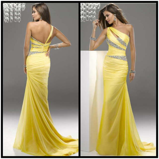 2016 New Arrival Stock Maternity Plus Size Bridal Gown Evening Dress Fish Tail Yellow Blue Little
