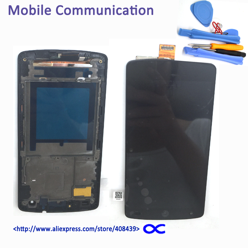 New D820 LCD Touch Screen for LG Google Nexus 5 D820 D821 Display Touch Panel Digitizer Assembly with frame tools new lcd display touch screen digitizer assembly for lg google nexus 5 d820 d821 black free shipping