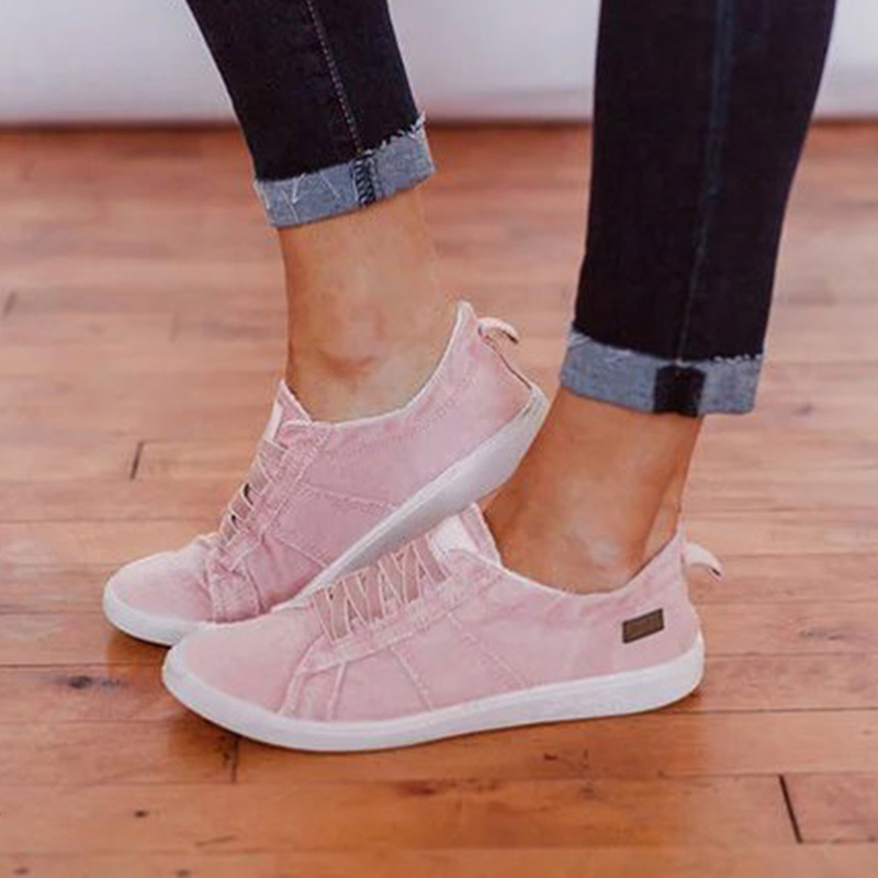 WEUYUJH Sneakers Women Summer Flats Canvas Shoes For Women Vulcanize Shoes Sneakers Girls Low-cut Lace-up Trainers Basket Femme