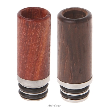 2018 Wooden 510 Drip Tip Long Metal Mouthpiece For Atomizer Electronic Cigarette Vape taste type vape mouthpiece 510 drip tip with heat sink design for atomizer vaporizer tank electronic cigarette