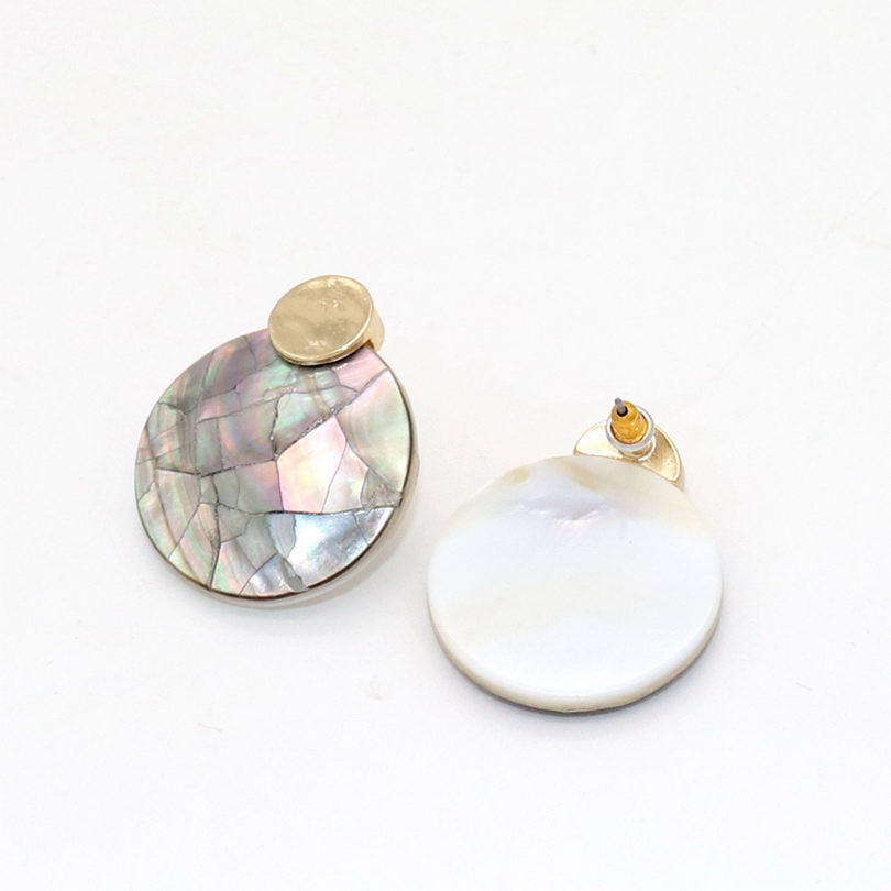 Abalone Shell Stud Earrings 4