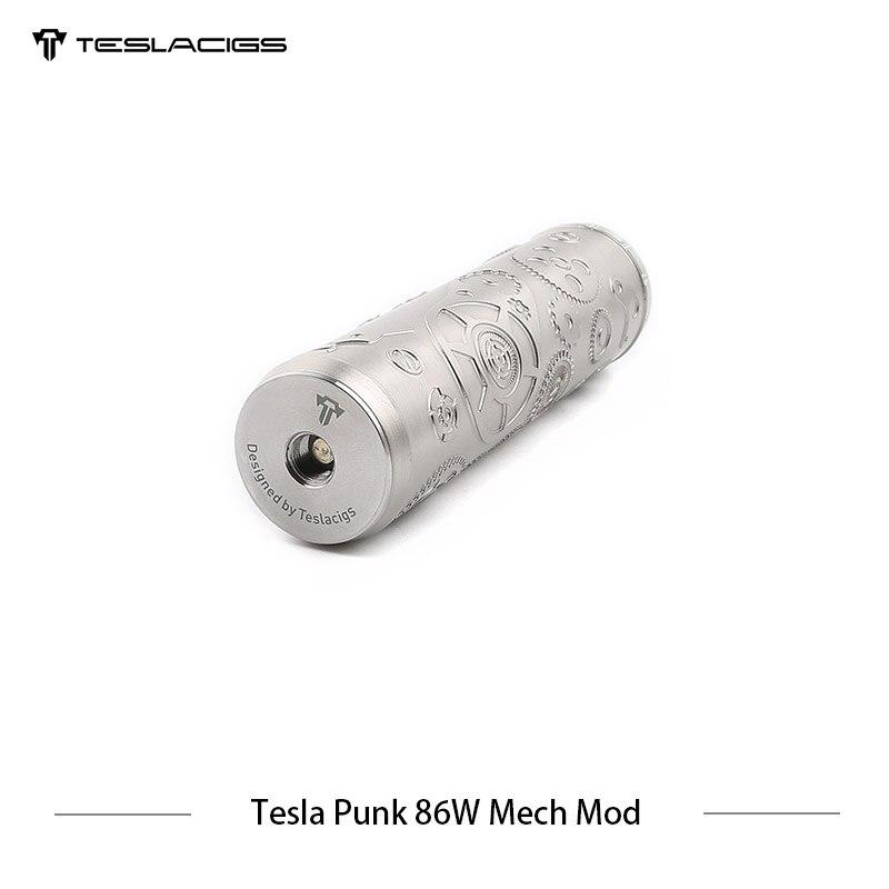 E Cigarette Tesla Punk 86 w Mech Mod Teslacigs Max 86 w Mécanique Mod Unique 18650 Vaporisateur Cigarette Électronique Mod VS Vgod Mech Mod - 5