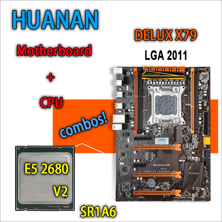 HUANAN Golden Deluxe Version X79 Gaming Motherboard For Intel LGA 2011 ATX Combos E5 2680 V2
