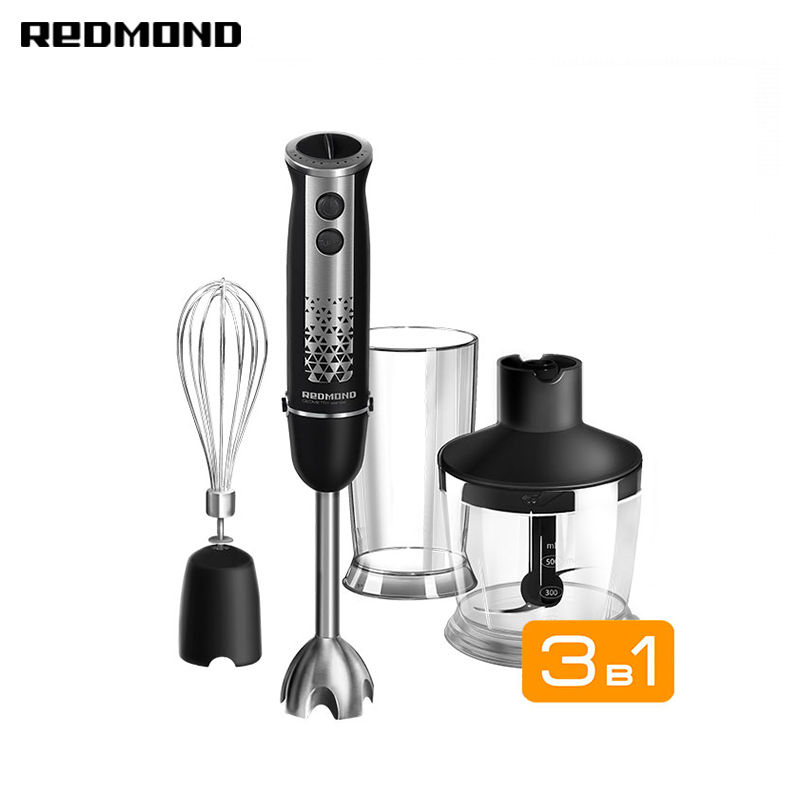 Liquidificador submersível redmond RHB-2913 imersão com wisk chopper shredder máquina aparelhos domésticos para smoothies cozinha