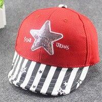 6M 3T Korean Baseball Cap Fashion Hip Hop Cartoon Cute Five Pointed Star Baby Hat Top