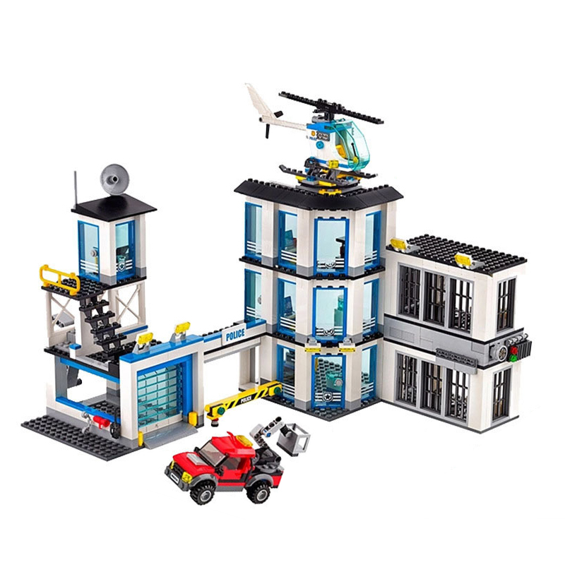 Lepin 02020 City Series The New Police Station Car Set Children Educational Building Blocks Bricks Toys Kid Gift 60141 Legoingly lepin 21012 builder the beatles yellow submarine with 21306 building blocks bricks policeman toys children educational gift toys