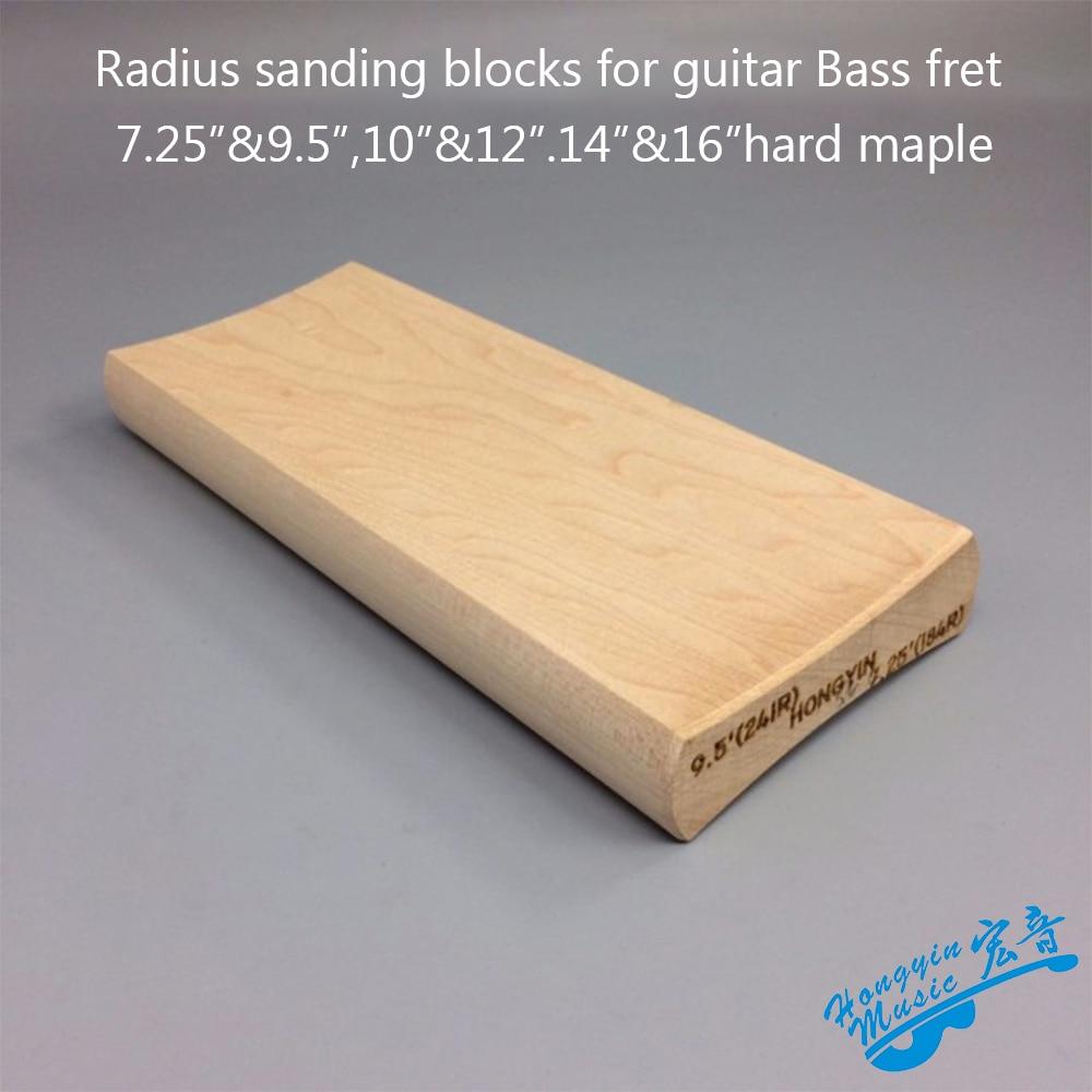 Radio bloques de lijado para guitarra Bass te preocupes nivelación diapasón Luthier herramienta 7,25 y 9,5 10 y 12 14 y 16 de doble bloque de lijado