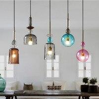 Дизайнерская личность Креативный дизайн Nordic современный минималистский ресторан бар кофейня стеклянный цвет подвесные светильники WF511957