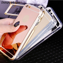 Innovation Luxury Plating Mirror Soft TPU Silicon Case For iphone 5S 5 SE 6 6S 4.7 6S Plus 5.5