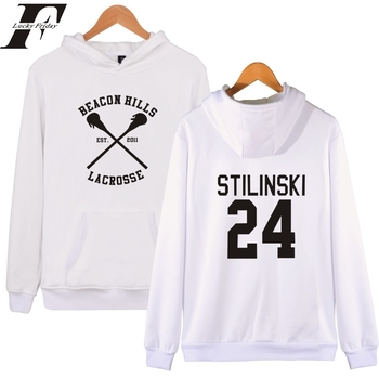 2017 harajuku beacon hills Hoodies men women survetement femme Teen Wolf Fan Stilinski trucksuit Printed hoodie Brand-clothing diy crop top