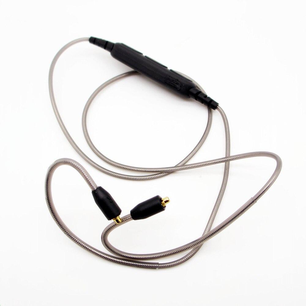 Nouvelle Arrivée de cuivre Étamé fil de Remplacement Sans Fil Bluetooth 4.1 Câble MMCX upgrad câble Pour Shure SE215/315/535/846/UE900