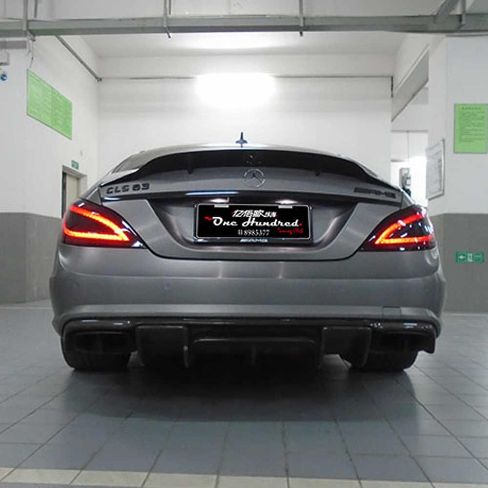 W218 AMG Renntech Style Serat Karbon Bumper Belakang Bibir Diffuser untuk Mearcedes Benz W218 CLS350 CLS63 AMG Bumper 2011- 2013