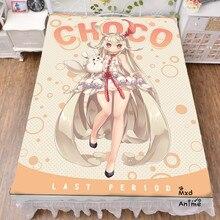 Japanese Anime LAST PERIOD Printed Bed sheets 120*200cm 150*200cm Bedsheet Summer Quilt Blanket bedroom