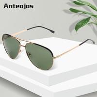 abf5e8c57 ANTEOJOS Polarized Fashion Green Sunglasses Men Vintage Retro Brand Design  Women Flexible Sun Glasses UV400 Oculos