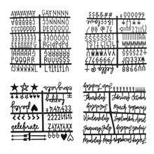 4 шт./компл. черный персонажей для Войлок письмо доска Номера для со сменными буквами доска
