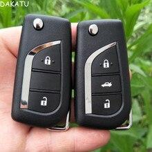 2/3 Кнопка флип складной пульт дистанционного ключа оболочки для Toyota Левин Камри рейз Highlander Corolla сменный Корпус Ключа toy48 toy43